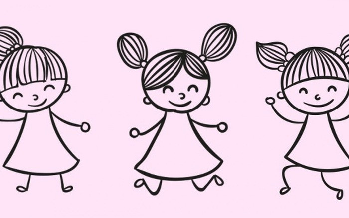 Tính tuổi của ba bé gái