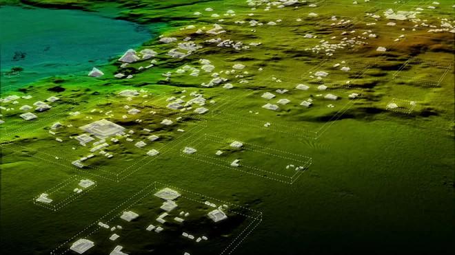 Công nghệ quét laser giúp nhóm nghiên cứu tìm ra các kiến trúc cổ của người Maya.
