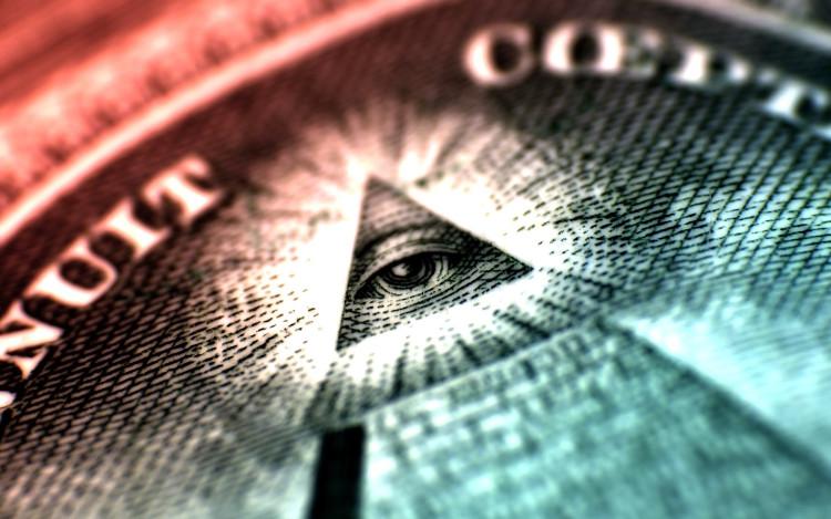 Con mắt trên kim tự tháp của tờ 1 USD là biểu tượng của một tổ chức ngầm đối với các nhà thuyết âm mưu học.