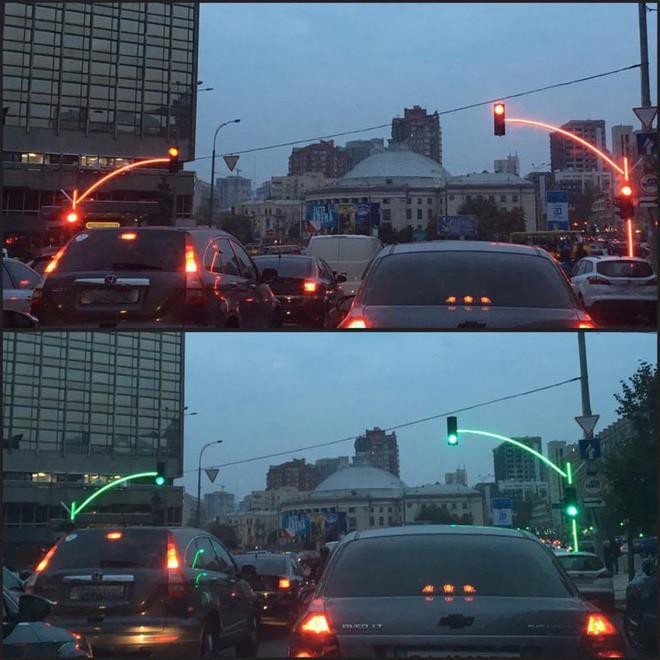 Đèn giao thông tại Ukraine.