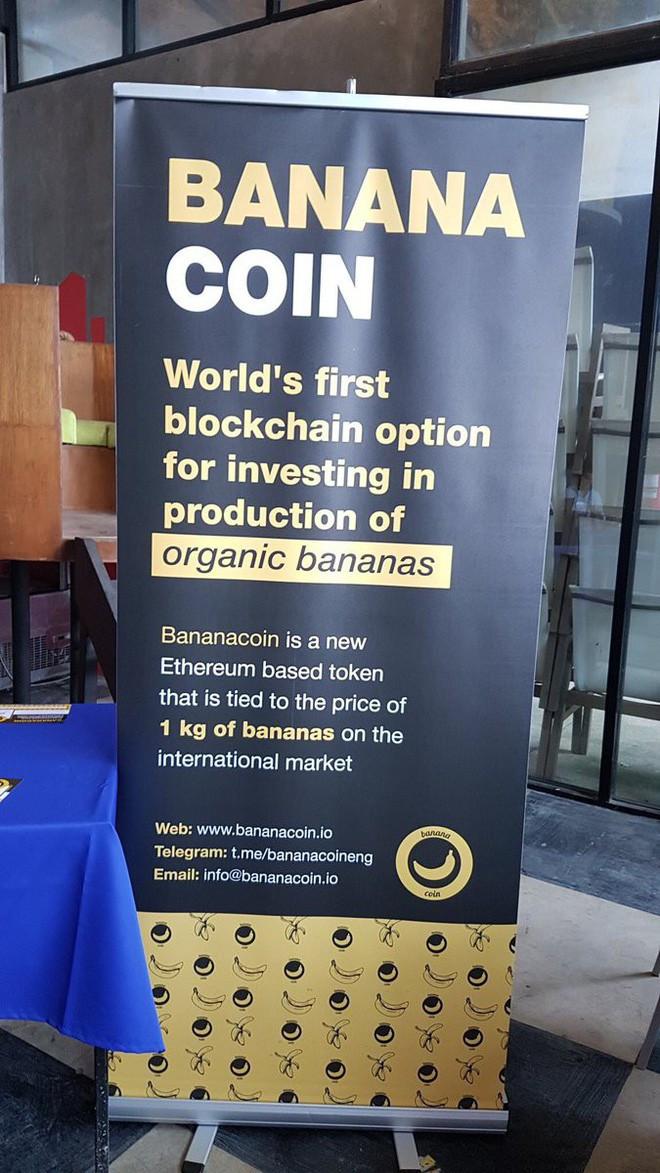 Giá trị của đồng Bananacoin được liên kết chặt chẽ với giá tiền một 1kg chuối.