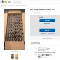 """Lõi giấy vệ sinh đang là """"hàng hot"""" trên eBay nhưng người ta mua làm gì?"""