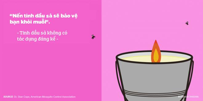 Nến với tinh dầu sả có tác dụng xua muỗi