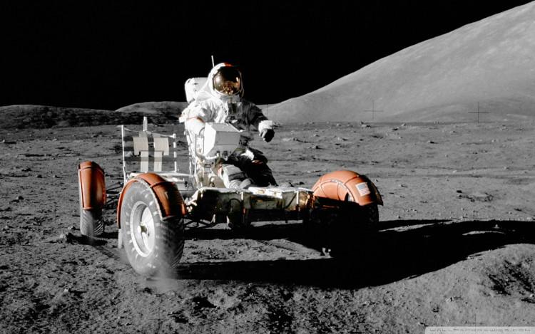 Chiếc xe điện cuối cùng chạy trên bề mặt Mặt Trăng.