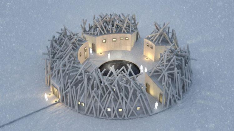 Tổ hợp khách sạn và spa có tên Arctic Bath được thiết kế nổi trên sông Lule