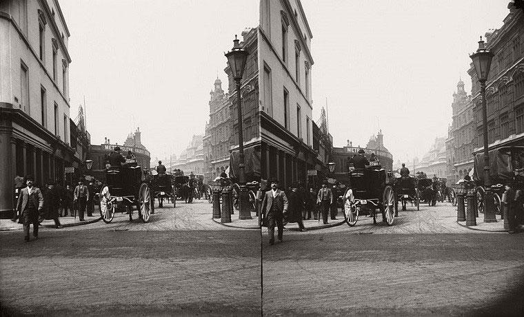 Cảnh đông đúc tại ga Liverpool năm 1890.