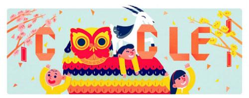 'Linh vật tết châu Á năm nay là dê, vậy doodle chỉ cần có dê là đủ' Google nghĩ