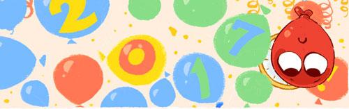 Với châu Âu, không khí tết trong doodle khá là rộn ràng và rõ nét