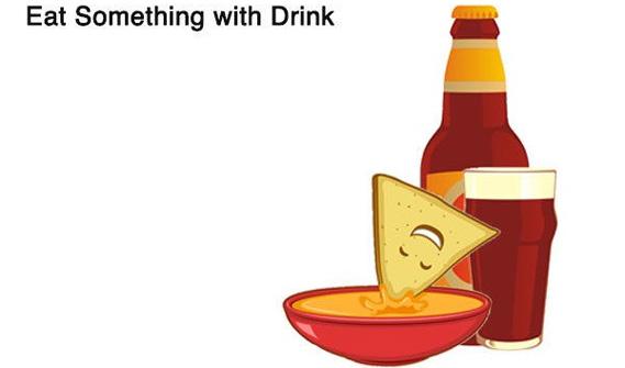 Ăn một cái gì đó với đồ uống của bạn