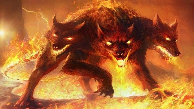 Chó ba đầu Cerberus còn khiến mọi người khiếp sợ bởi chiếc đuôi rắn đáng sợ.