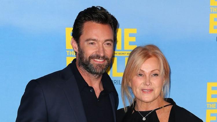 Hugh Jackman và vợ.