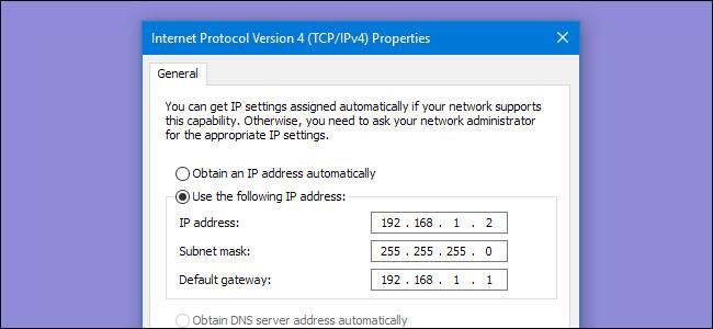 Thay đổi địa chỉ IP.