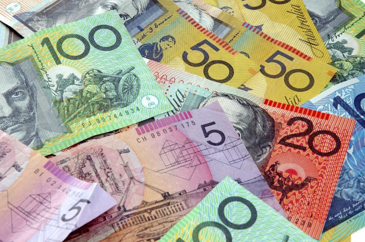 Những tờ đô la Australia với mệnh giá khác nhau.