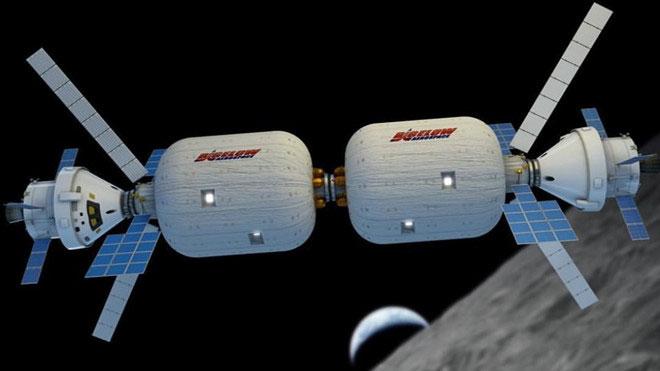 Mô hình trạm vũ trụ hình thành từ 2 module của BSO.