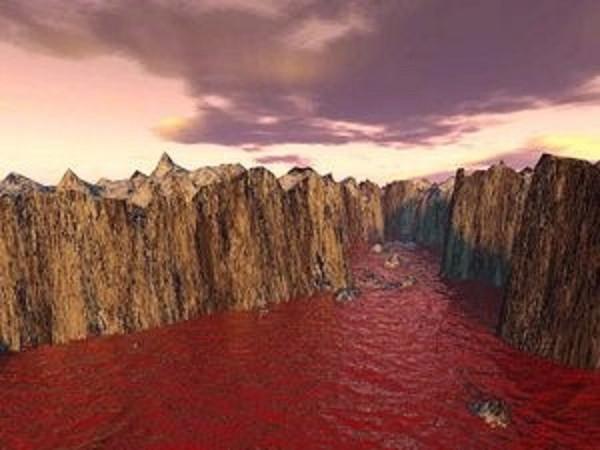 Sông Nile chuyển màu máu