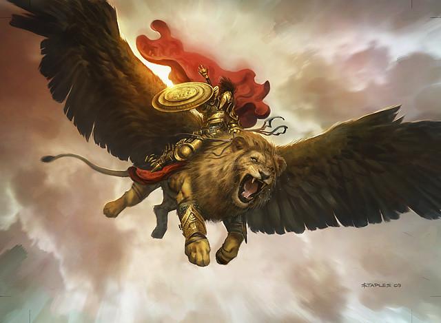Sư tử có cánh.