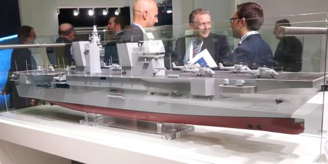 Mô hình Trieste tại một triển lãm hải quân ở Paris năm 2016.