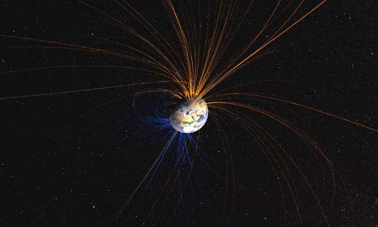 Từ trường bảo vệ Trái đất trước bức xạ vũ trụ có hại.