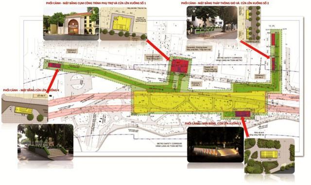 Quy hoạch mặt bằng ga ngầm C9, tuyến đường sắt đô thị số 2, đoạn Nam Thăng Long - Trần Hưng Đạo.