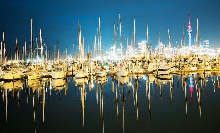 Thành phố của những cánh buồm Auckland.