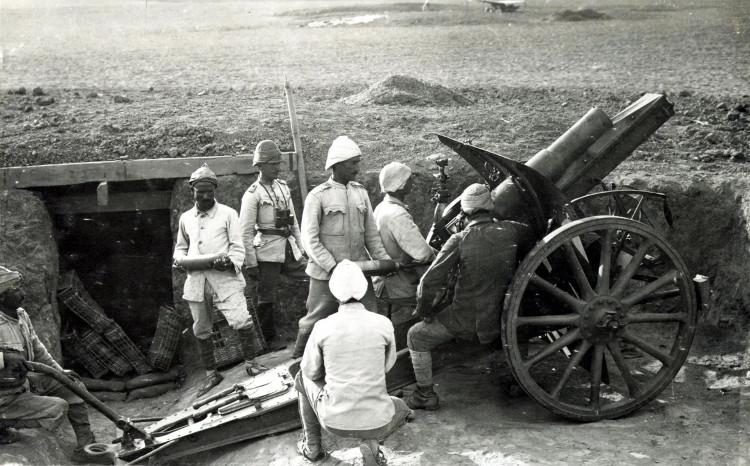 Binh lính Anh thời Thế chiến I trong chiến hào.