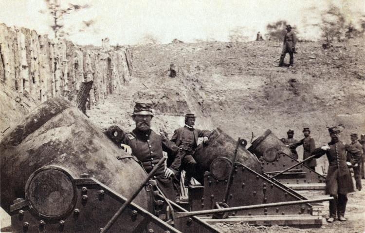 Quân miền Bắc nước Mỹ vào Thế kỷ 19 chờ đợi đối phương đến.