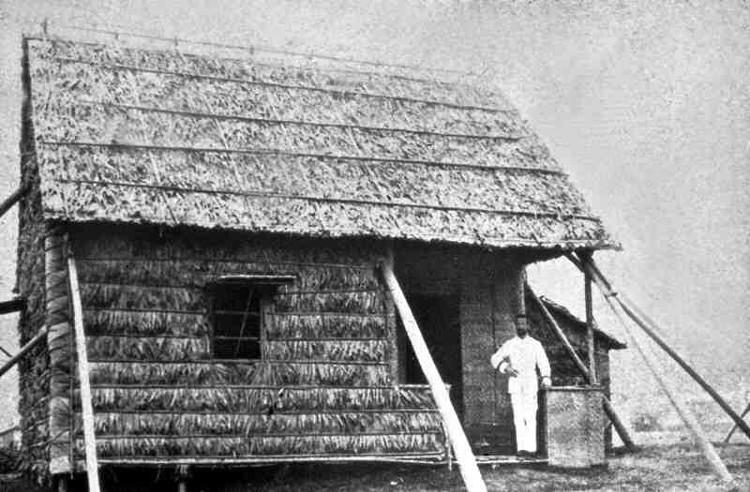 """Căn nhà lá, đồng thời là """"phòng thí nghiệm"""" của Yersin ở Hồng Kông - nơi ông tìm ra vi trùng dịch hạch."""