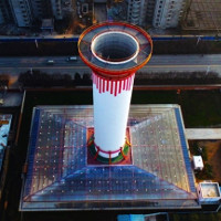 """Trung Quốc vận hành thành công ống khói '""""lọc"""" không khí ô nhiễm"""