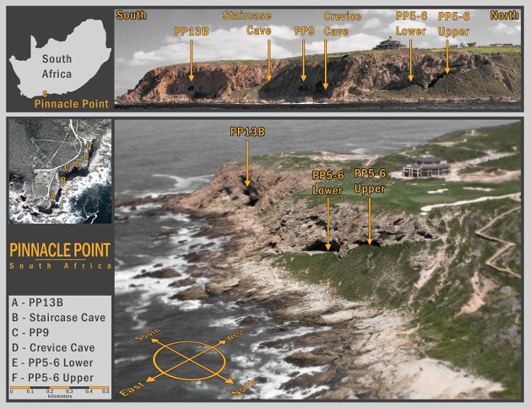 Các hang động dọc bở biển Nam Phi