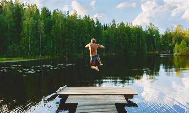 Hồ Vuohijärvi ở Phần Lan. Quốc gia này vừa trở thành đất nước hạnh phúc nhất thế giới.