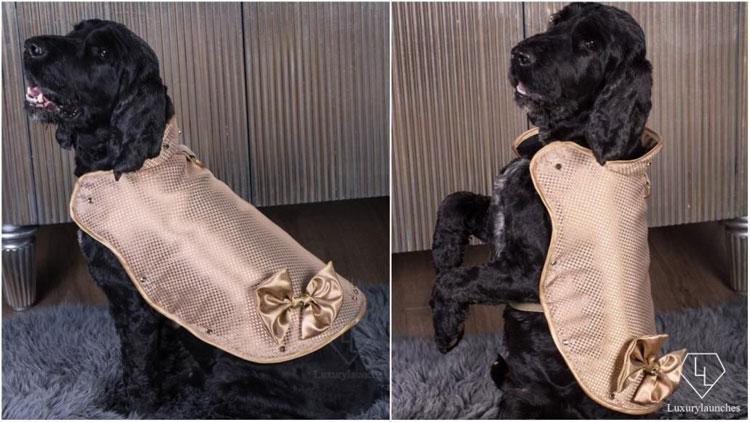 Áo khoác này được dệt từ những sợi vàng Nano 24 karat.