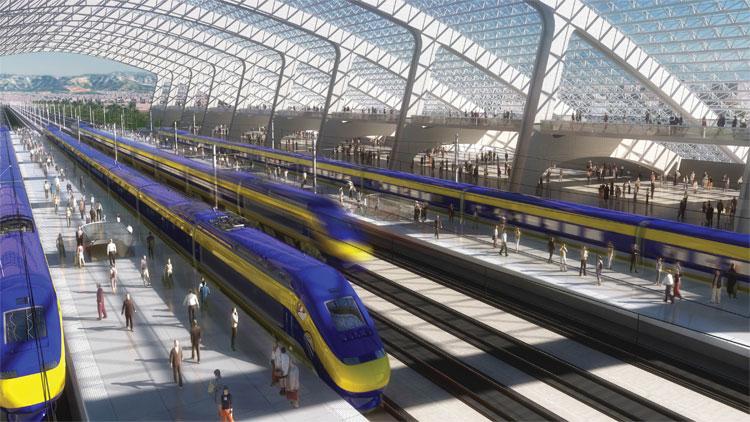 Mô hình đường sắt tốc độ cao California.