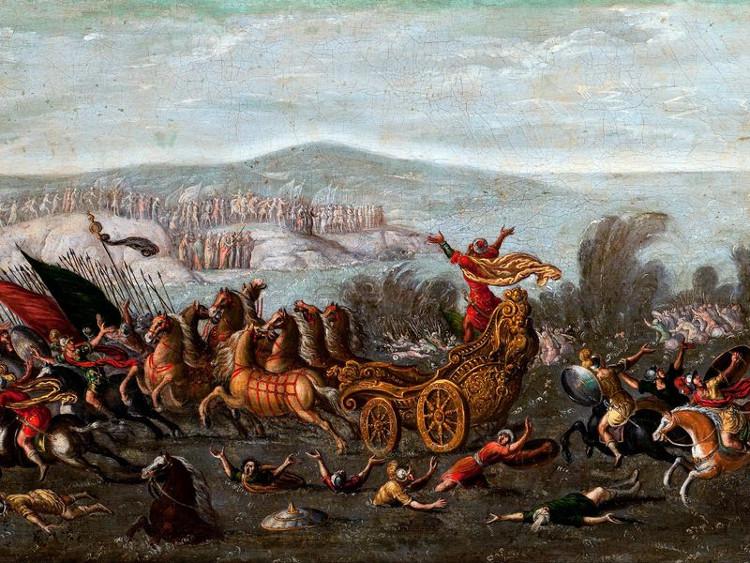 Thánh Moses dắt 600 ngàn người cùng hành lý tháo chạy, vượt qua bán đảo Sinai.