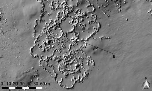 Hình ảnh LiDAR của địa điểm khảo cổ.