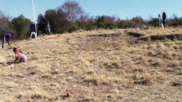 Địa điểm khảo cổ tại Sukerbosrand, Nam Phi.