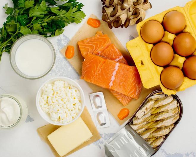 Thực phẩm giàu vitamin D.