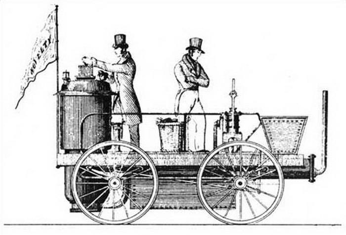 Xe cứu hỏa tự hành đầu tiên chạy bằng động cơ hơi nước