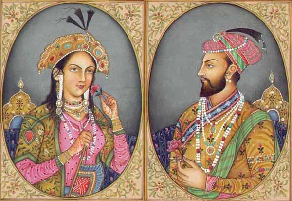 Vua Shah Jahan và hoàng hậu Mumtaz Mahal