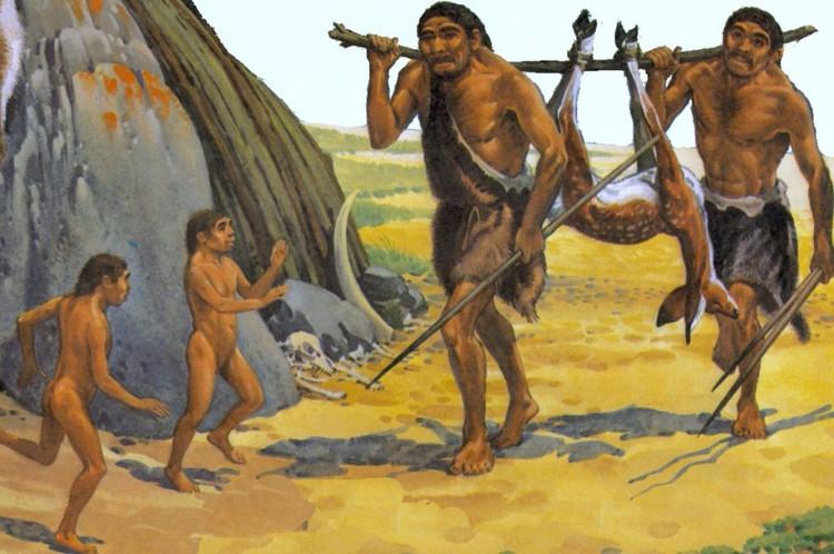 Con người thời tiền sử có dáng vóc khá to lớn và thông minh nên việc săn bắn khá hiệu quả.