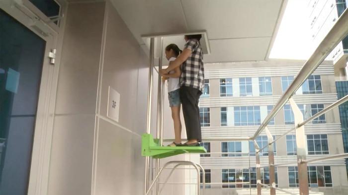 Mô hình thoát hiểm này rất phù hợp với nhà chung cư.