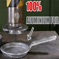 Biến giấy bạc thành quả cầu nhôm hơi phí, ép thành chảo rán thì tốt hơn nhiều!