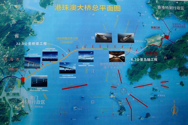 Đây là sơ đồ, vị trí của cây cầu trên biển.