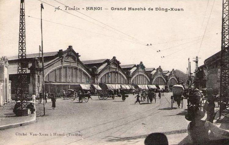 Diện mạo mới của chợ Đồng Xuân sau quá trình xây dựng năm 1890.