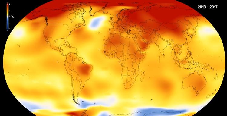Nhiệt độ bắt đầu tăng cao từ những năm 1980