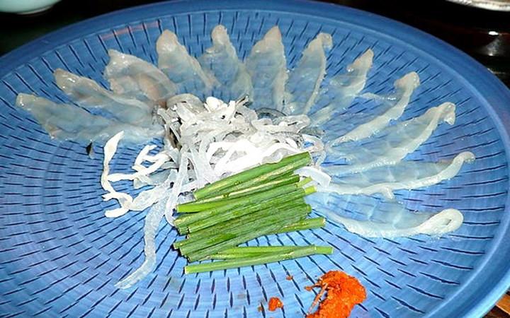 Thịt cá nóc Fugu