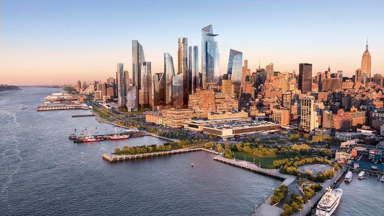 Dự án khu dân cư Hudson Yards bên bờ sông Hudson.