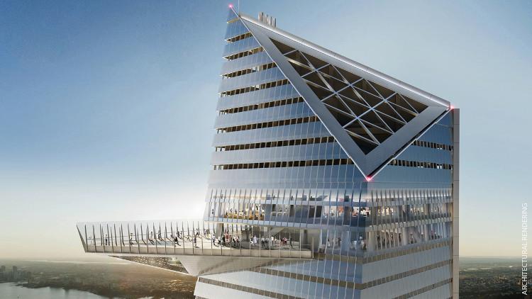 Bản vẽ phối cảnh tòa nhà 30 Hudson Yards.