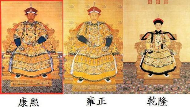 Tranh chân dung ba vị vua nhà Thanh