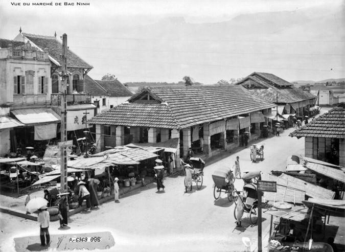Khu chợ của thị xã Bắc Ninh thập niên 1920