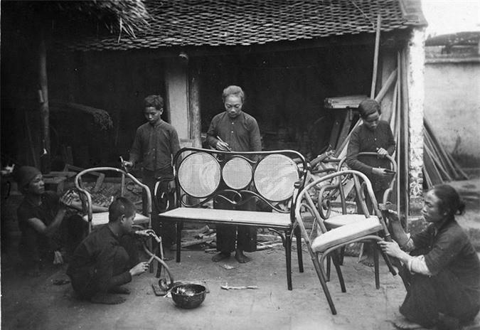 Trong một xưởng mộc ở Trang Liệt, Từ Sơn, Bắc Ninh.